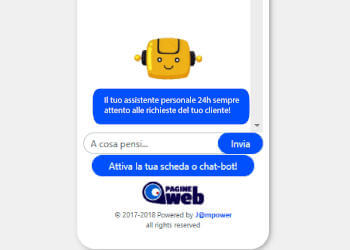 Chat Bot Pagine Web Assistenza 24h